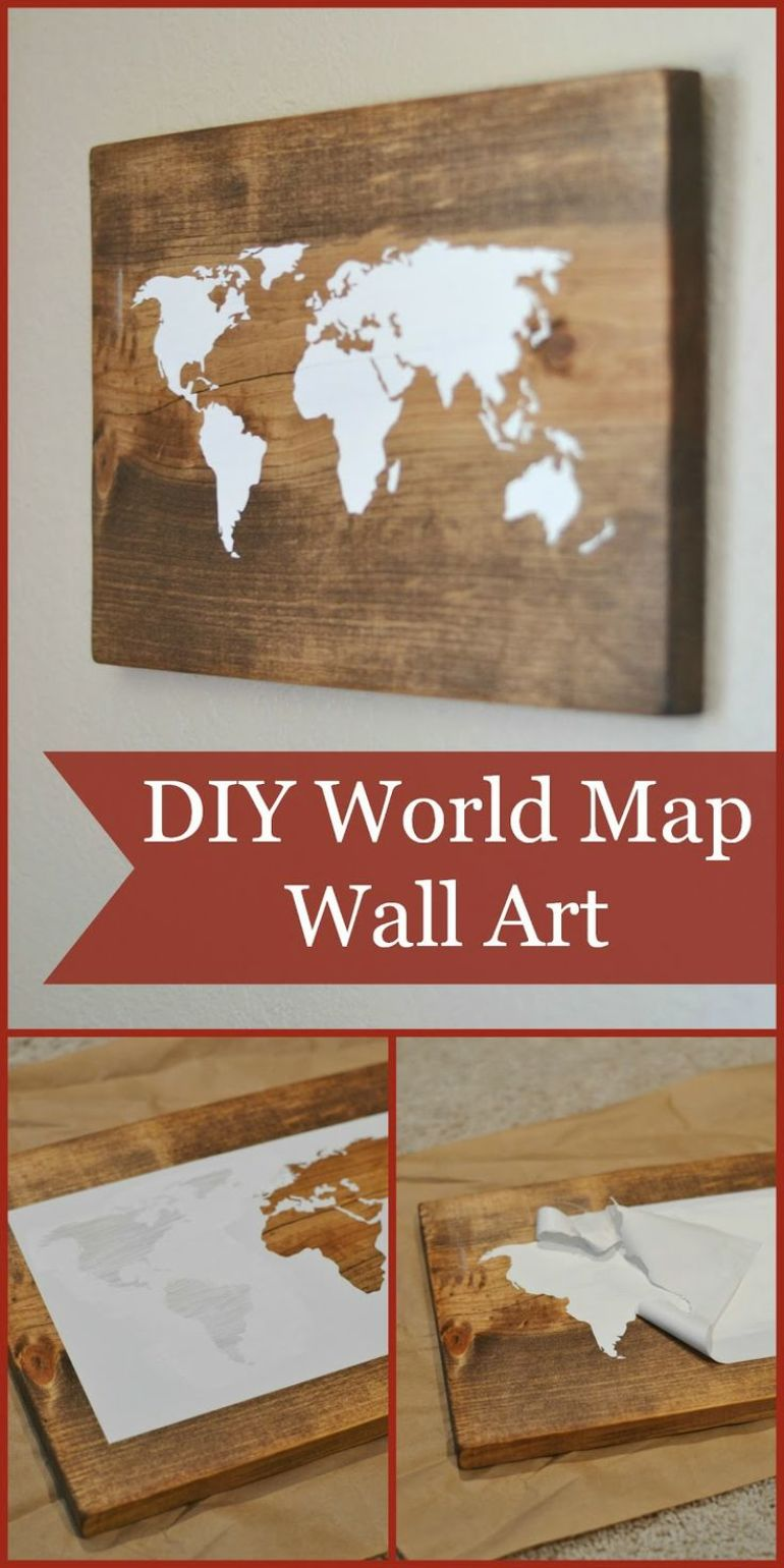 World Map String Art World Map Wall Art