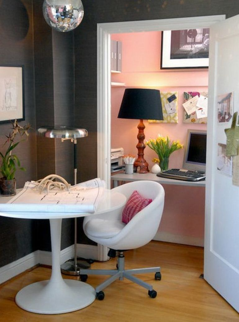 Tiny Home Office In A Cupboard