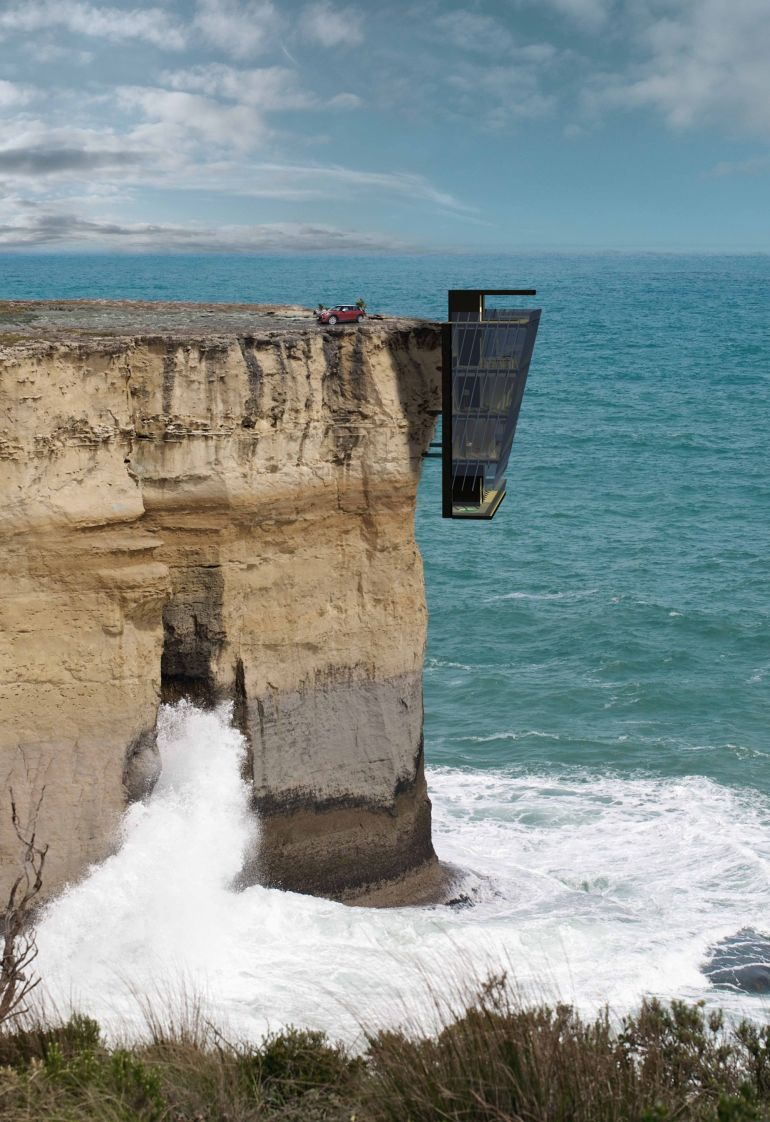 You Won't Believe This Incredible Cliff-Hanging House…